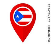 flat map marker icon with... | Shutterstock .eps vector #1767619838