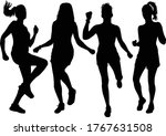 group of people. black... | Shutterstock .eps vector #1767631508