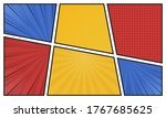 comics book background in... | Shutterstock .eps vector #1767685625