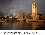 The Spokane Pavilion And Clock...