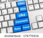 social media 3d keyboard like... | Shutterstock . vector #176770316