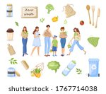 zero waste and eco friendly... | Shutterstock .eps vector #1767714038