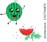 Vector Two Parts Watermelon...