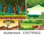 four different nature scene of... | Shutterstock .eps vector #1767755012
