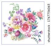Flowers Watercolor Illustration....