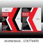 fitness flyer template vector... | Shutterstock .eps vector #176776655