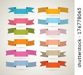 colorful retro ribbons  labels... | Shutterstock . vector #176778065