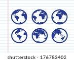 Globe Earth Vector Icons Theme...