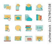 line and fill style icon set... | Shutterstock .eps vector #1767841538