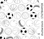 sports balls vector seamless...
