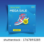 shoes sale post web banner... | Shutterstock .eps vector #1767893285