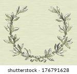 laurel wreath. vector... | Shutterstock .eps vector #176791628