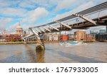 St Pauls Cathedral and Millennium Bridge - London, United Kingdom