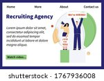 employment agency web page with ...