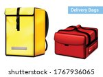 food delivery courier insulated ... | Shutterstock .eps vector #1767936065