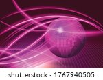 abstract planet earth.  map of... | Shutterstock .eps vector #1767940505