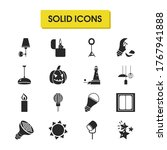 light icons set with light...