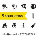 ecology icons set with eco...