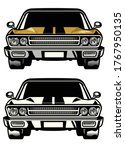 Muscle Car Classic Front Side...