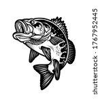 largemouth bass fish.... | Shutterstock .eps vector #1767952445