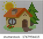 little house mosaic pixel. lego ...