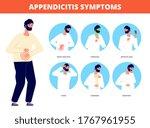 appendicitis symptoms.... | Shutterstock .eps vector #1767961955