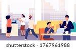 office lounge. foyer  people... | Shutterstock .eps vector #1767961988