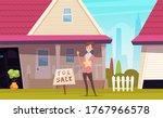 house for sale. suburb...   Shutterstock .eps vector #1767966578