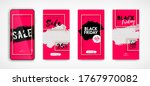 black friday sale abstract red... | Shutterstock .eps vector #1767970082