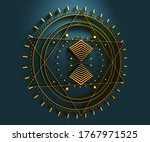 mystical geometry symbol.... | Shutterstock . vector #1767971525