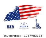 flag of america  brush stroke... | Shutterstock .eps vector #1767983135