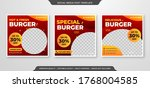 social media ads template with... | Shutterstock .eps vector #1768004585