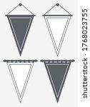 template blank pennant.... | Shutterstock .eps vector #1768023755