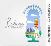 balinese galungan ceremony... | Shutterstock .eps vector #1768035902