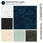 topographic maps. beautiful...   Shutterstock .eps vector #1768053875