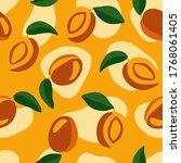 bright orange seamless pattern. ... | Shutterstock .eps vector #1768061405