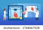 bioprinter concept. scientists... | Shutterstock .eps vector #1768067528