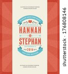 wedding invitation card... | Shutterstock .eps vector #176808146