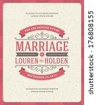 wedding invitation card... | Shutterstock .eps vector #176808155