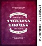 wedding invitation card... | Shutterstock .eps vector #176808215