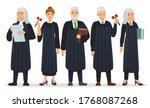 judges team. law judge in black ... | Shutterstock .eps vector #1768087268