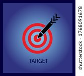 icon marketing target graphic... | Shutterstock .eps vector #1768091678