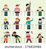 school days we have all been... | Shutterstock .eps vector #176810486