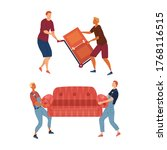 moving and real estate concept. ... | Shutterstock .eps vector #1768116515