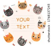 cute background for text with...   Shutterstock .eps vector #1768137245