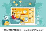 successful online business ... | Shutterstock .eps vector #1768144232