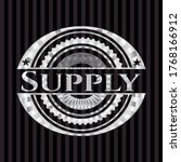 Supply Silver Emblem. Vector...