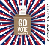 go vote on november 3 ... | Shutterstock .eps vector #1768174115