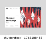 abstract homepage illustration. ... | Shutterstock .eps vector #1768188458