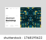 abstract homepage illustration. ... | Shutterstock .eps vector #1768195622